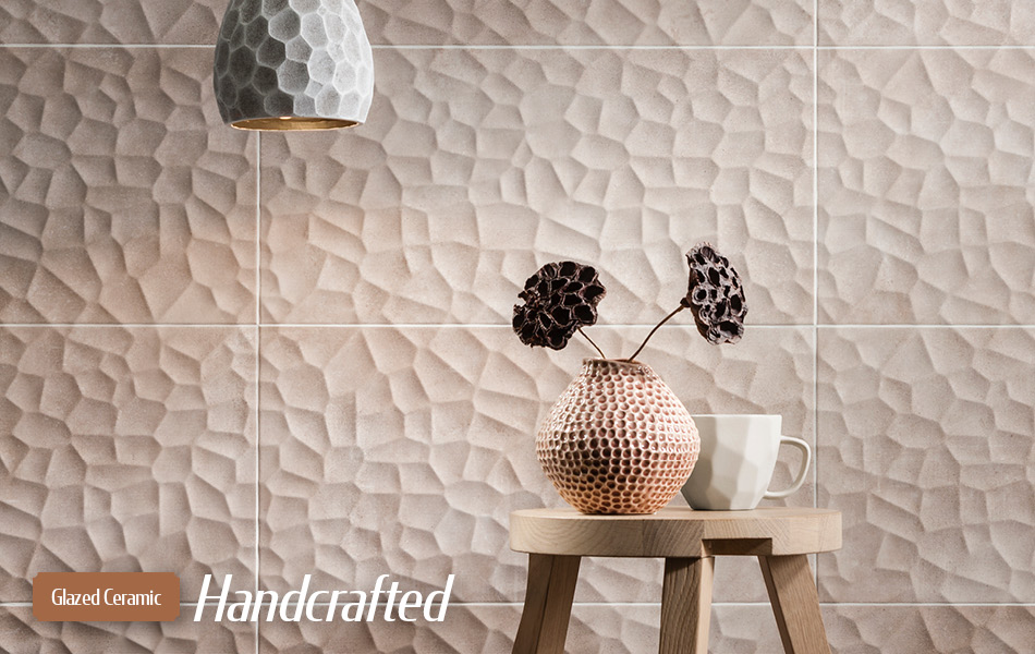 Handcrafted glazed ceramic tiles from Gemini