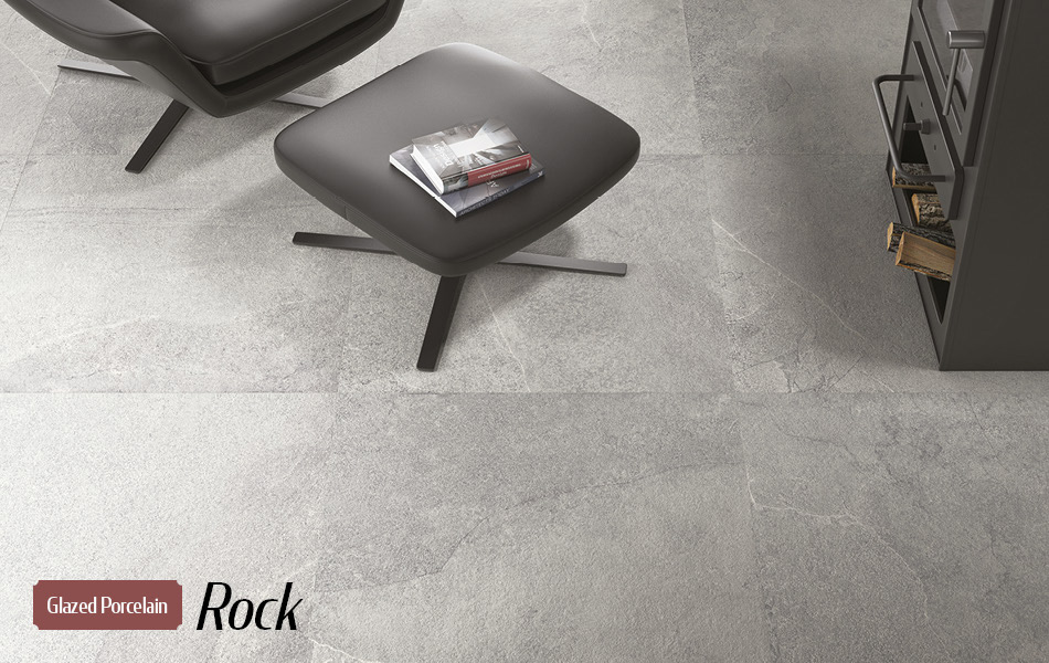 Rock glazed porcelain tiles from Gemini