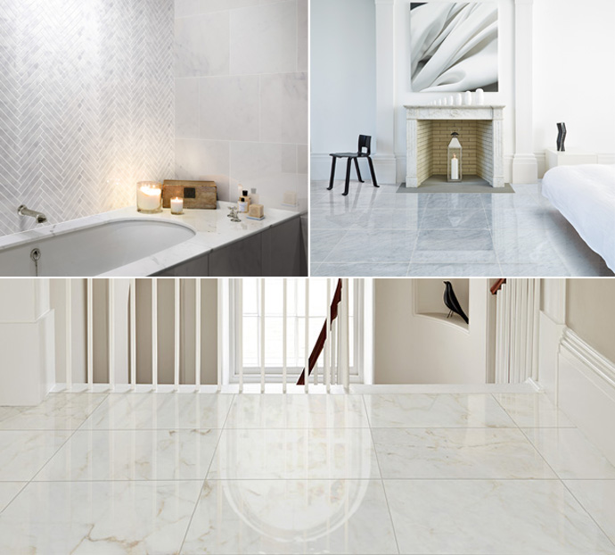 Natural Marble And Marble Effect Tiles How To Get The Marble Look