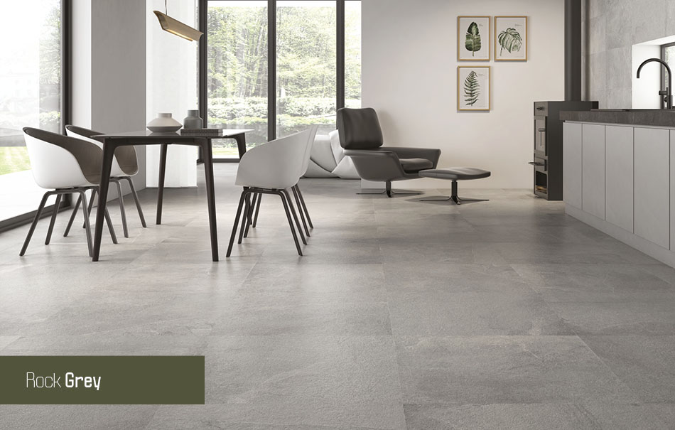 Rock grey floor tiles from Gemini
