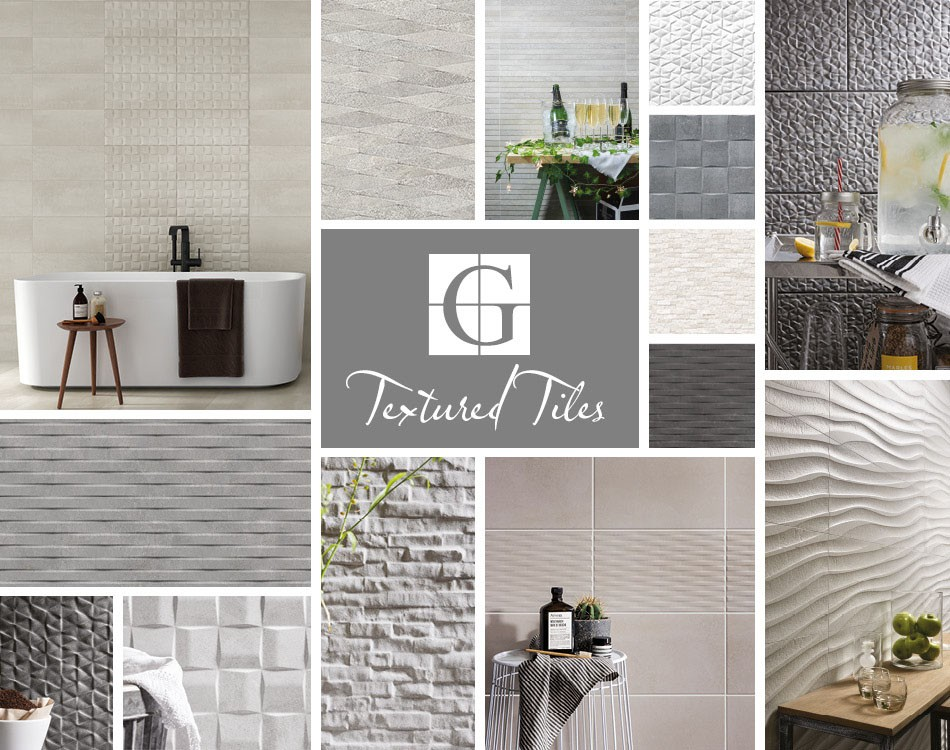 Grey collage of textured tiles by Gemini.