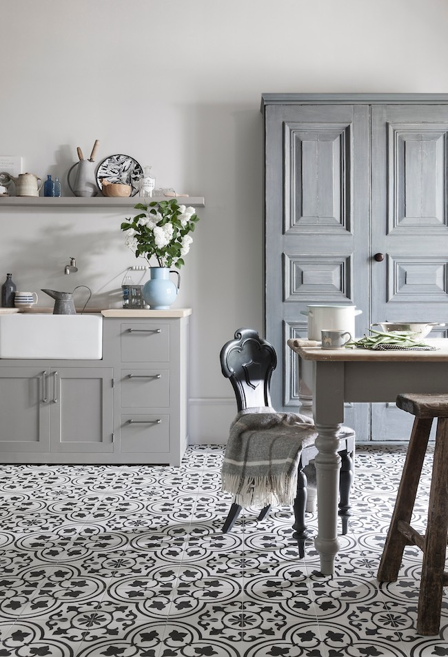 How to use pattern floor tiles in your home.