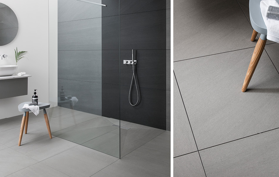 Collage picture of Kursaal large format wet room tiles