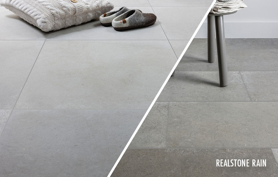 Realstone Rain large format tiles from Gemini