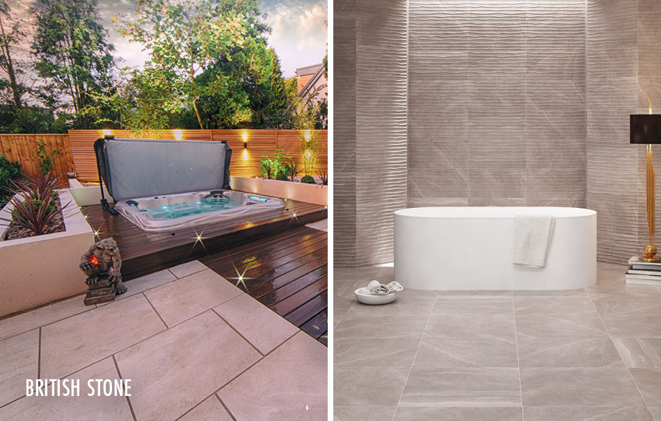 British Stone large format tiles from Gemini