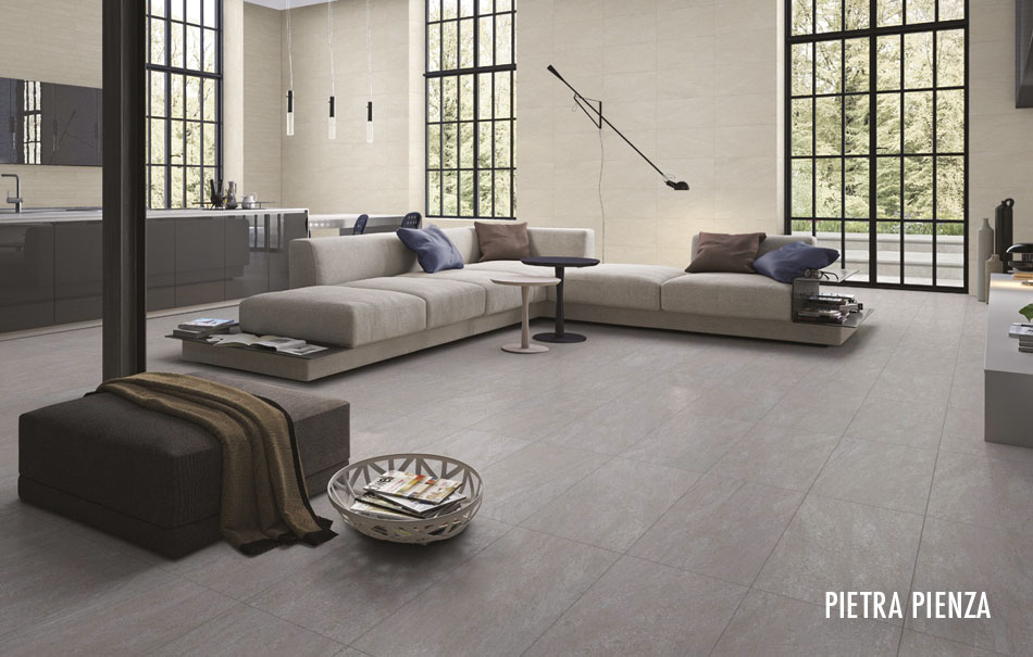Pietra Pienza large format tiles from Gemini