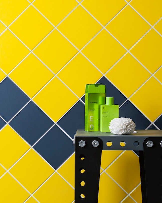 Yellow Square Wall tiles