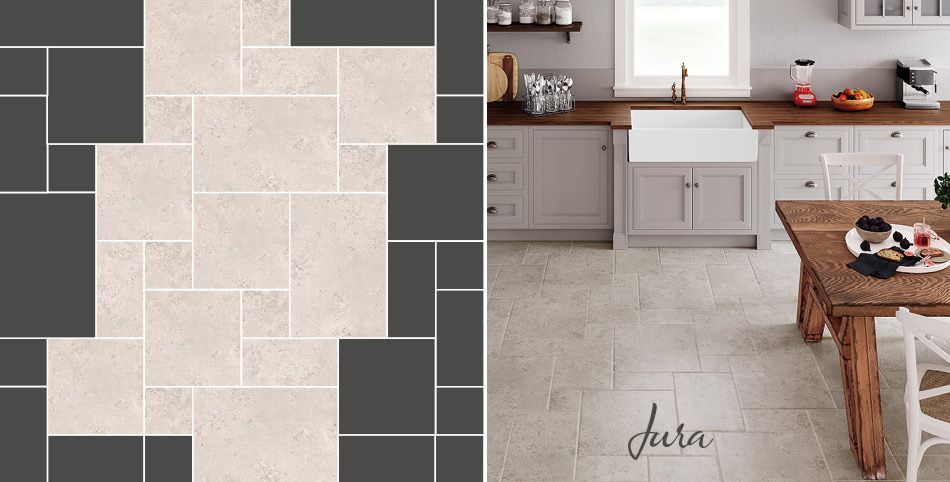 Jura multi format tiles from Gemini in a kitchen setting