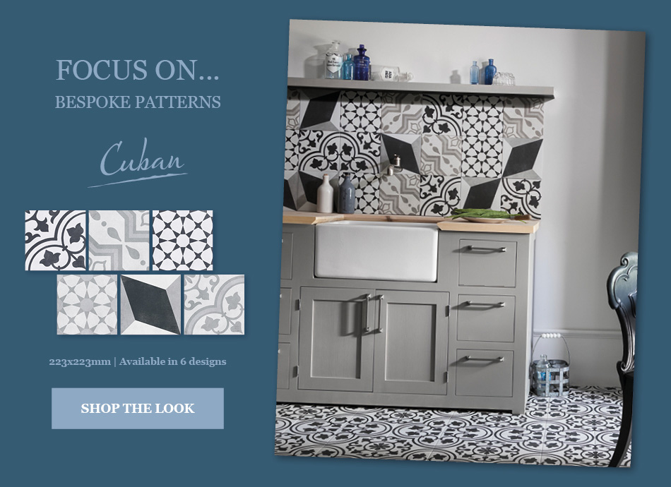 Cuban patterned tiles by Gemini