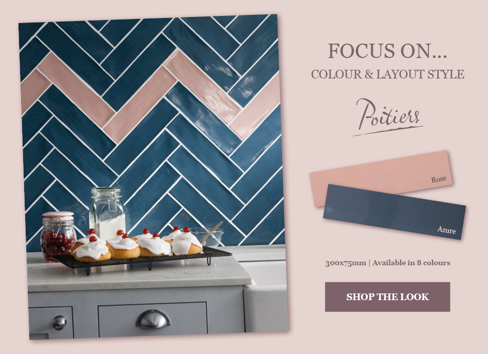 Poitiers colured tiles by Gemini