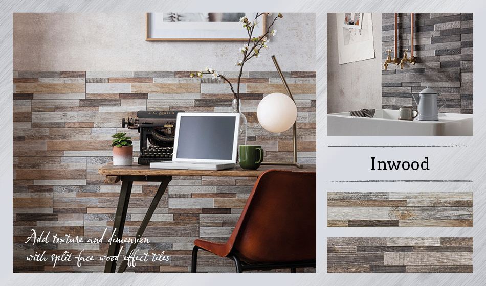 Collage picture of Inwood wood effect tiles