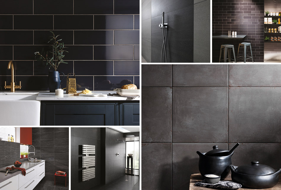 Collage of black tiles from Gemini