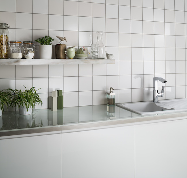 White Square Tile Ideas Small Or Large Format Industrial