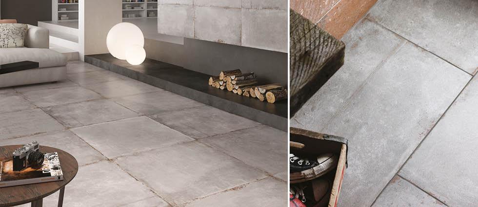 Cement Tech Floor Tiles Industrial Effect Tile