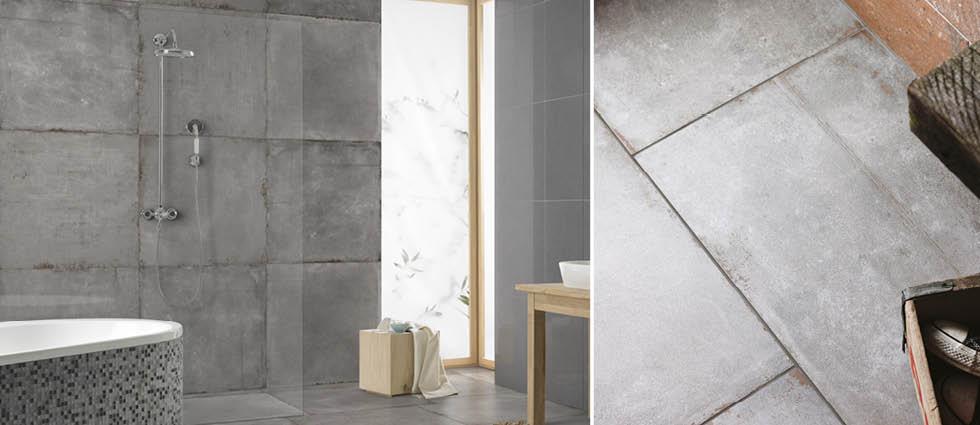 Cement Tech Bathroom Tiles