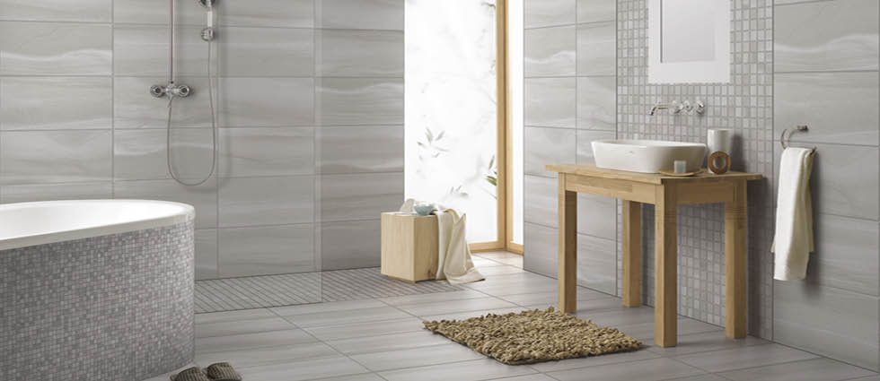 Linear Bathroom Tile Setting