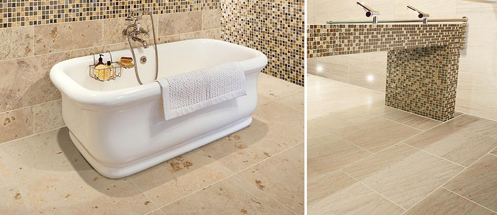 Natural Stone Limestone Tiles For Bathrooms