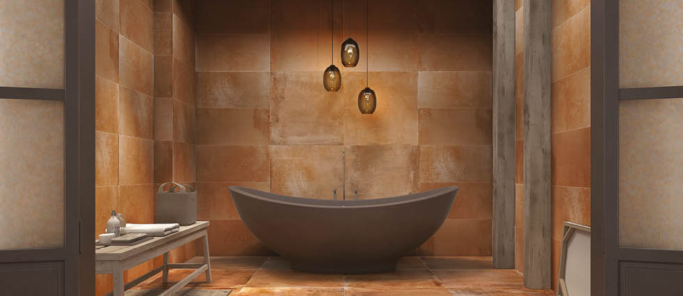 Terra Nova Bathroom Tiles | Large format wall and floor tile range
