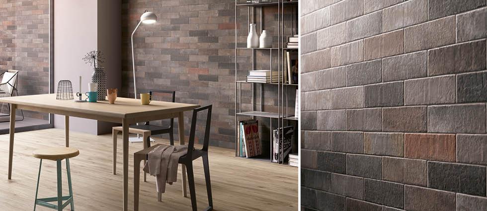 Brick Wall Tiles With Natural Shade Variation In Each Brick