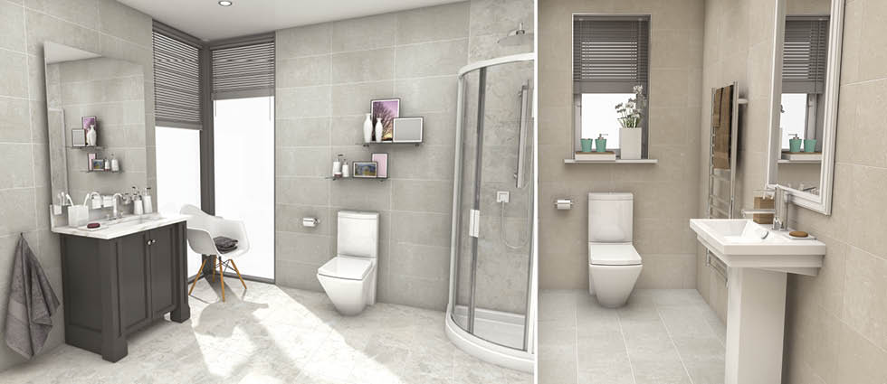 York Stone Effect Tiles Bathroom Tiles Johnson