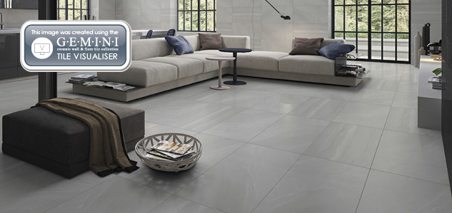 British Stone Living Room Timeless Terra Nova Floor Tiles