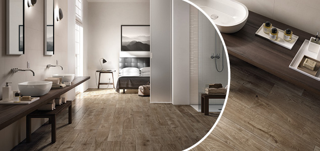 Treverkever wood effect tiles - image