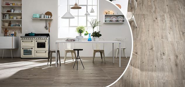 Wood effect tiles for Kitchens