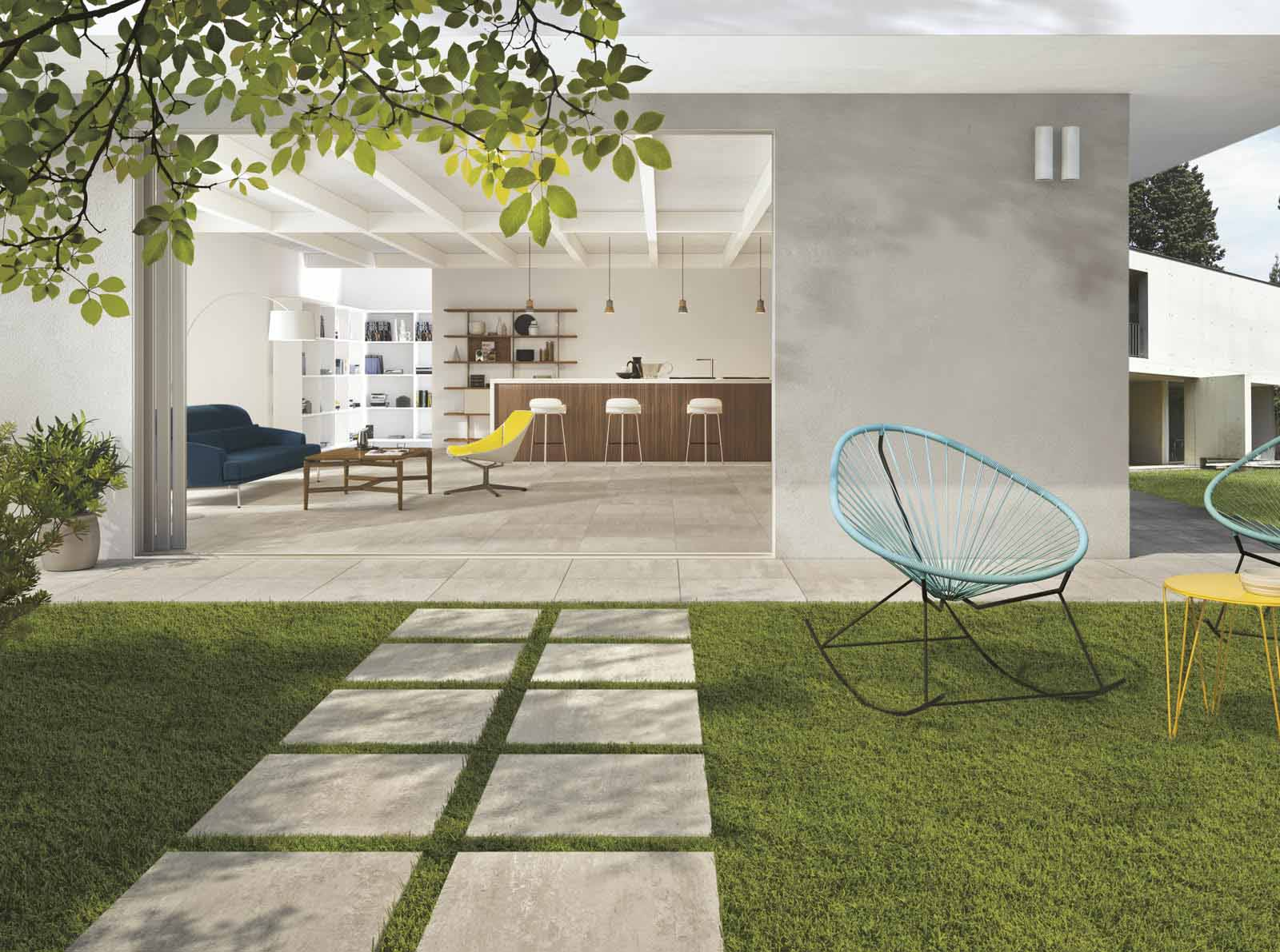 Indoor and Outdoor Tiles Coordinating Colours suitable
