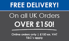 free Delivery on orders over £150 exc VAT