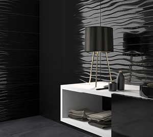 Wall Tiles - Black Gloss