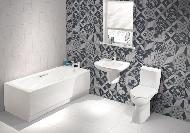 Wonderful Feature Walls Bath Panel Family Bathroom Bathroom Ideas Mosaic Tiles