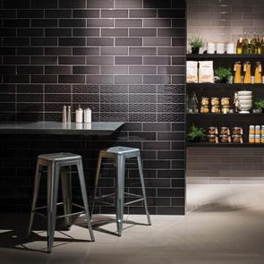 Savoy Noir Gloss Tile 300x100mm Wall Tiles Ctd Tiles