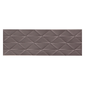 Savoy Steel Gloss Décor Tile - 300x100mm
