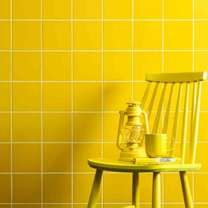 Reflections Yellow Tile - 150x150mm