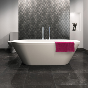Valmont Hexagon Mosaic Tile | Marble Mosaic for Bathrooms