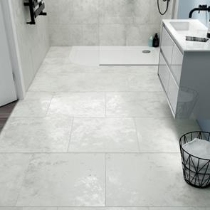 Marblestone Marble White Matt Tile - 495x495mm