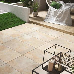 Burlington Ivory Outdoor Tile - 900x600x20mm