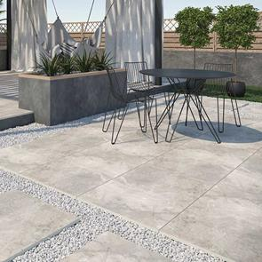 Burlington Silver Outdoor Tile - 900x600x20mm