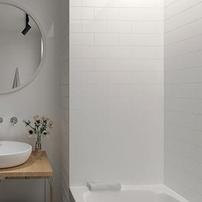 Metro Brick White Gloss Tile - 200x100mm