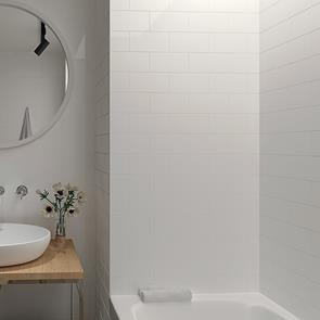 Metro Brick White Matt Tile - 200x100mm