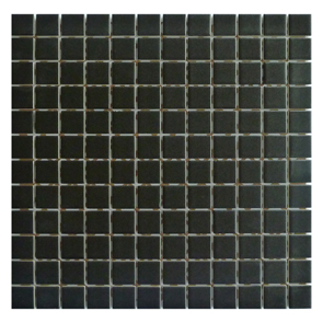 Step Black Mosaic Tile - 25x25mm (Sheet 300x300mm)