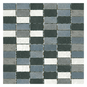 Scala Black/White Mosaic Tile - 25x50mm (Sheet 300x300mm)