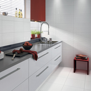 Allure White Gloss Tile - 400x250mm