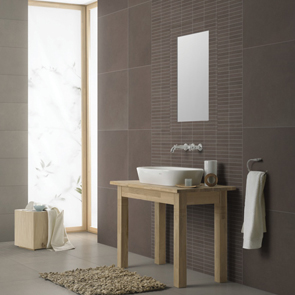 Vitra Sahara Soft Brown Mosaic Tile - 150x30 mm