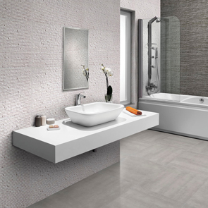 Montecarlo White Split Face Tile - 675x455mm