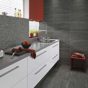 Pietra Pienza Dark Grey Matt Rectified Tile - 600x300mm