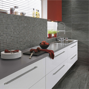 Pietra Pienza Dark Grey Mosaic Tile - 30x30mm (Sheet 300x300mm)