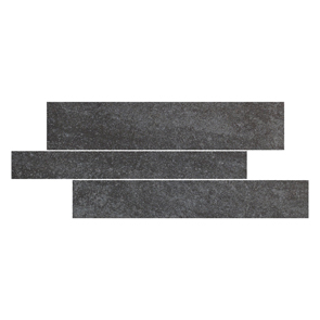 Pietra Pienza Rectified Antrasite Cut Decor 2 Tile - 600x300mm