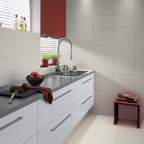 Streamline White Gloss Tile - 400x250mm
