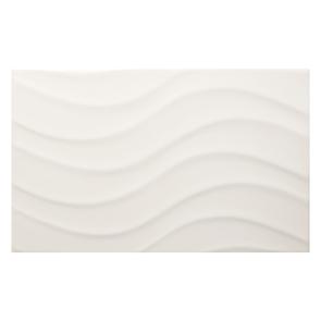 Streamline Wave White Matt Tile 400x250mm Wall Tiles